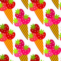 Strawberry ice cream cones background Royalty Free Stock Photos