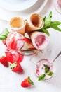 Strawberry ice cream Royalty Free Stock Photo