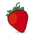 Strawberry illustration isolated drawing Royalty Free Stock Photo