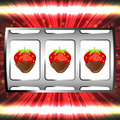 Strawberry jackpot Stock Image
