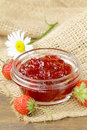 Strawberry jam and fresh berries Royalty Free Stock Images
