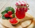 strawberry jam Royalty Free Stock Photo