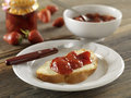 strawberry jelly Royalty Free Stock Photo