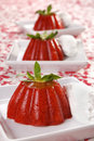 Strawberry jelly dessert Stock Image