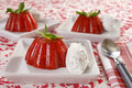 Strawberry jelly dessert Royalty Free Stock Images