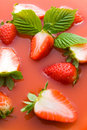 Strawberry juice Royalty Free Stock Photography
