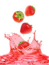 Strawberry and juice Royalty Free Stock Photography