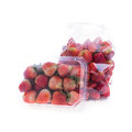 Strawberry juicy fruit in plastic bag packaging Royalty Free Stock Photo