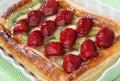 Strawberry and kiwi pie dessert Royalty Free Stock Photo