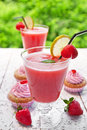 Strawberry lemonade Stock Photos
