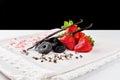 Strawberry, liquorice, vanilla and chocolate Royalty Free Stock Photo