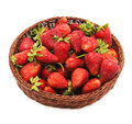 Strawberry in lug-box Royalty Free Stock Photo