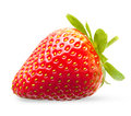 Strawberry macro isolated on white Royalty Free Stock Photos