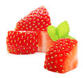 Strawberry macro isolated on white Stock Images