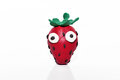 Strawberry made from plasticine. Royalty Free Stock Photo