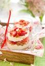 Strawberry and mascarpone trifle Stock Photos