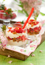 Strawberry and mascarpone trifle i Stock Image