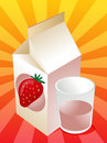 Strawberry milk Stock Photos