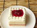 strawberry milk cream cake Royalty Free Stock Photo