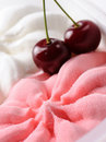 Strawberry and milk ice cream Royalty Free Stock Photo