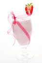 Strawberry milkshake. Royalty Free Stock Photo
