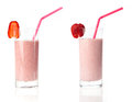 Strawberry milkshake variations Royalty Free Stock Photo