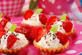 Strawberry mini tartlets Royalty Free Stock Photography