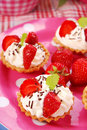 Strawberry mini tartlets Royalty Free Stock Photo