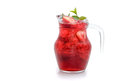 Strawberry mojito drink with strawberry slices Royalty Free Stock Photo
