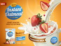 Strawberry oatmeal ad