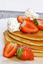 Strawberry Pancakes Stock Photography