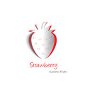 Strawberry paper cutout cutouts of a plump Royalty Free Stock Photos
