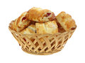 Strawberry Pastry in Basket Stock Photography