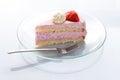 Strawberry pie a piece of delicious Stock Photos