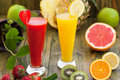 Strawberry and pineapple smoothies Royalty Free Stock Photo