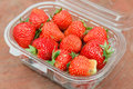 Strawberry in plastic package Royalty Free Stock Photography
