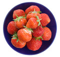 Strawberry on plate Royalty Free Stock Photo