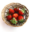 Strawberry in a plate. Stock Images