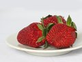 Strawberry on a plate Royalty Free Stock Photo