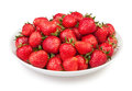 Strawberry plate Royalty Free Stock Photo
