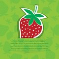 Strawberry in pocket Royalty Free Stock Photography
