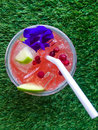 Strawberry punch with berry Royalty Free Stock Photo