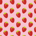 Strawberry random repeatable seamless pattern Stock Image