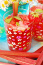 Strawberry  and rhubarb compote Royalty Free Stock Photos