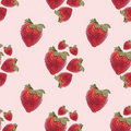 Strawberry Seamless Background Pattern Royalty Free Stock Photography