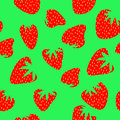 Strawberry seamless pattern Royalty Free Stock Images