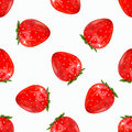 Strawberry seamless pattern. 3d realistic vector illustration .
