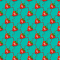 Strawberry seamless vector composition. Cute seamless pattern with funny strawberries, berry. Funny, cartoon fruit Royalty Free Stock Photo