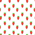 Strawberry seamless vector pattern design with red strawberries Royalty Free Stock Images