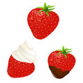 Strawberry Set Royalty Free Stock Photography